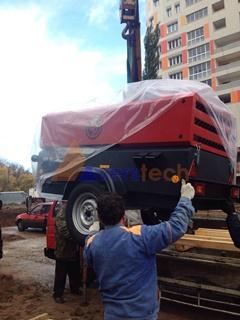 Дизельный компрессор Chicago Pneumatic поставлен на стройплощадку